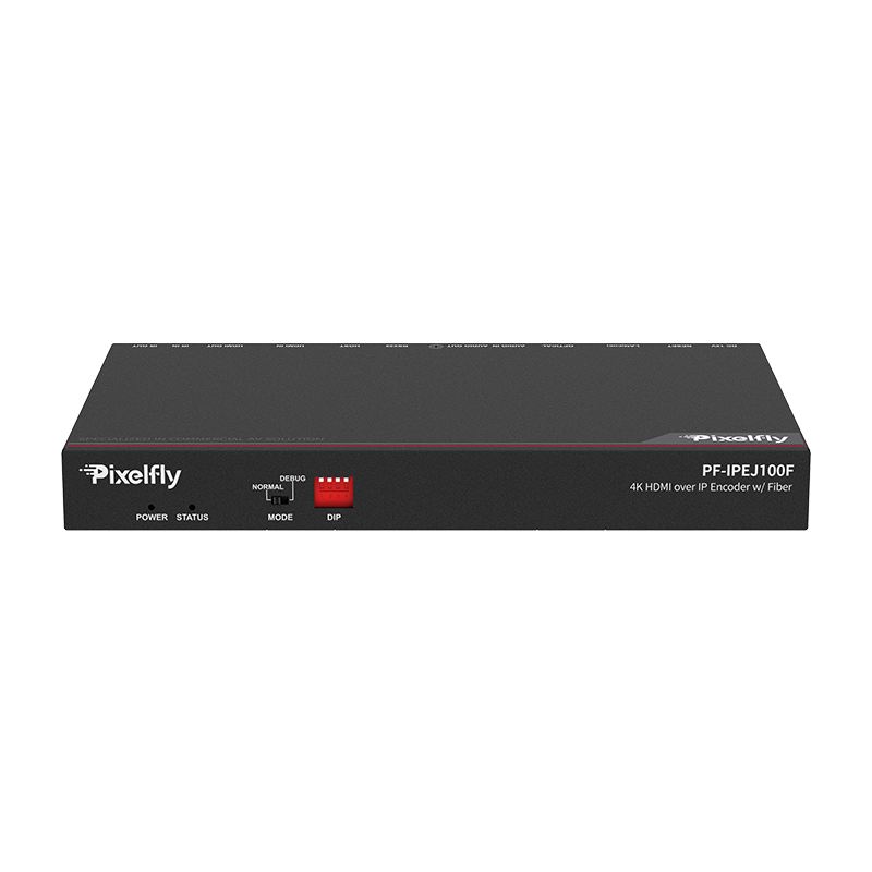 Pixelfly 4K30 HDMI over IP Encoder with fiber