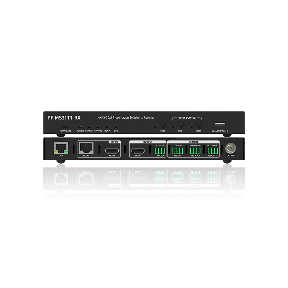 Pixelfly HDBaseT Receiver with Local HDMI Input